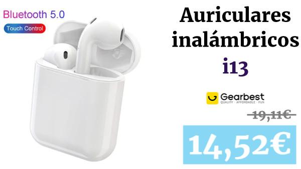 auriculares TWS i13