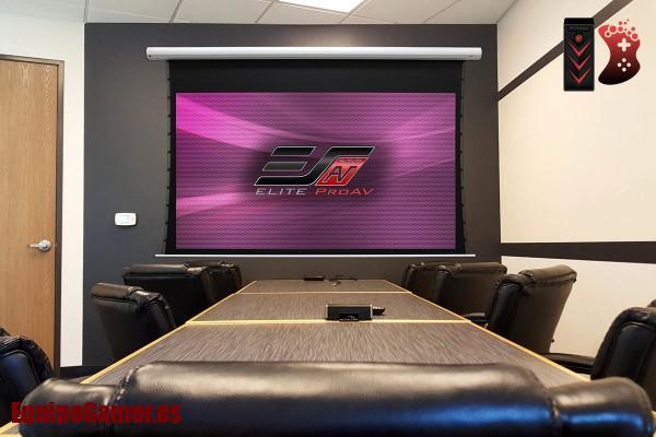 pantallas motorizadas para proyector