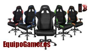 Catálogo con las sillas Gaming de tela al mejor precio